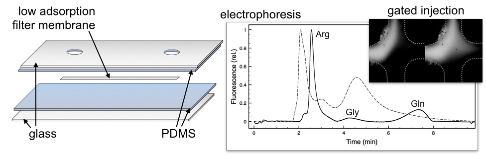 Unconventional materials for zonal electrophoresis in paper microfluidics