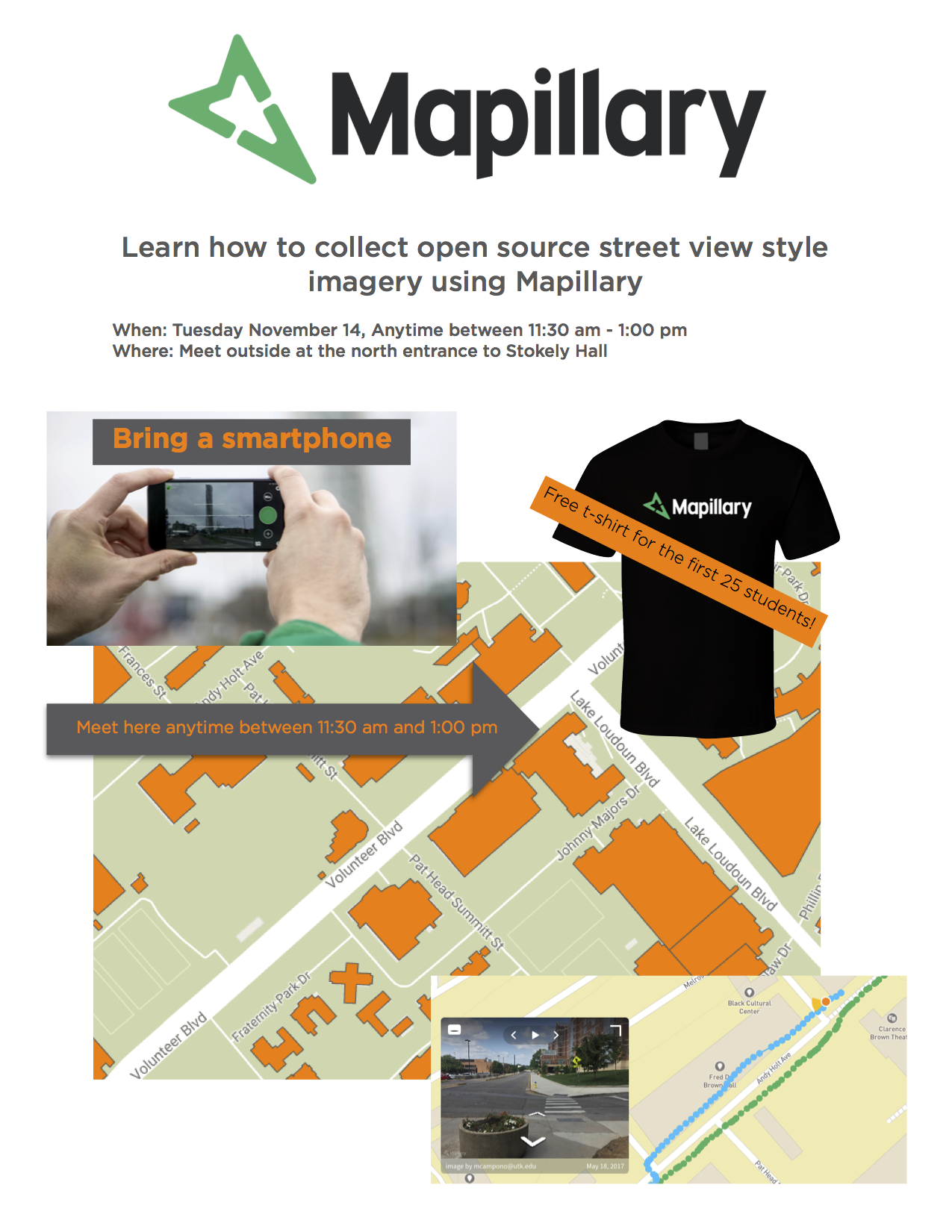A flier for the free mapping workshop.