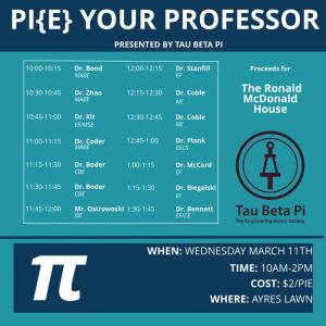 Pi{e} Your Professor @ Ayres Lawn